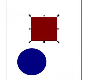 objeto seleccionado Inkscape