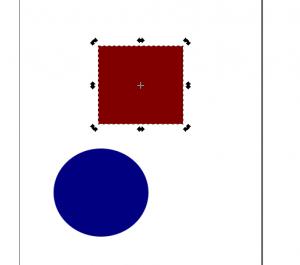 Rotar o girar objeto en Inkscape