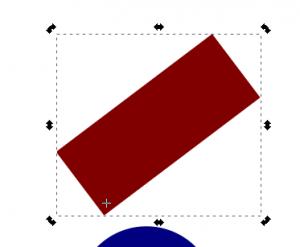 Cambiar punto de rotación, Inkscape