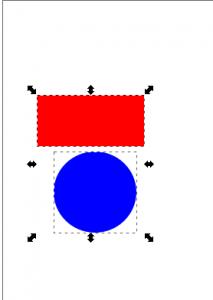 Seleccion de 2 objetos inkscape