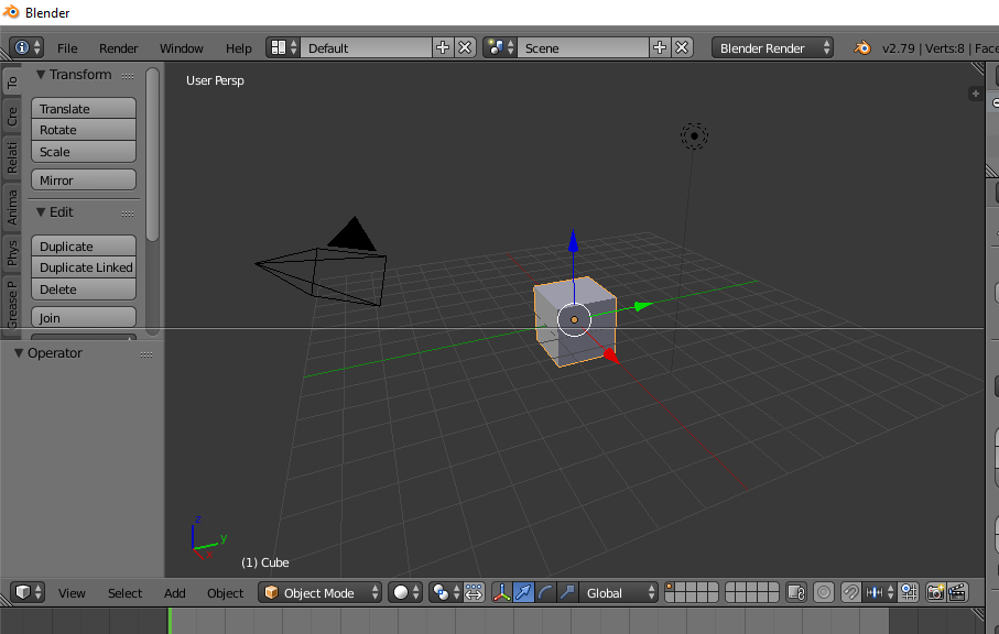 Split Area Blender