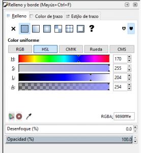 Colorerar, rellenar, inkscape