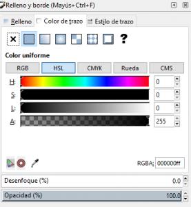 Color trazo, Inkscape