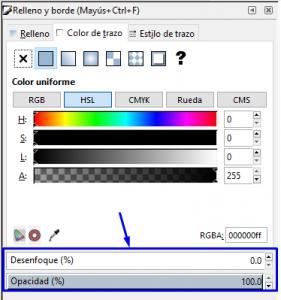 Desenfoque y opacidad, Inkscape