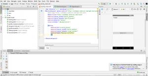 Interfaz de usuario de Android Studio