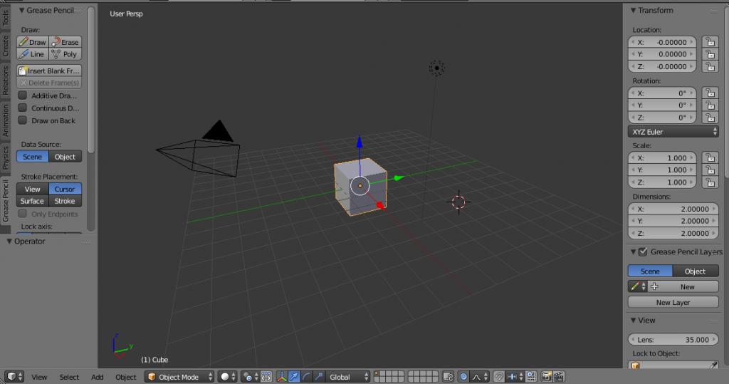 Vista 3D en blender