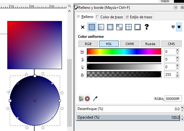Color rejilla, Inkscape