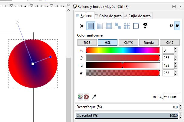 Degradado radial, Inkscape
