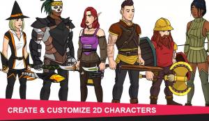 Persoajes 2D, Character 2D