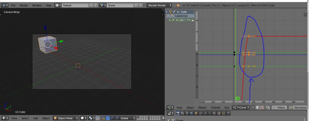 Editar animación Blender