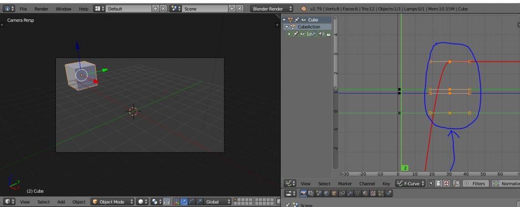 Mover animación Blender