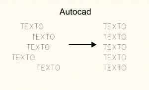 Alinear texto autocad