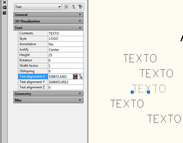 Alinear textos AutoCAD