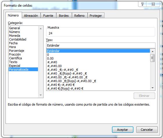 Unidades personalizadas en Excel