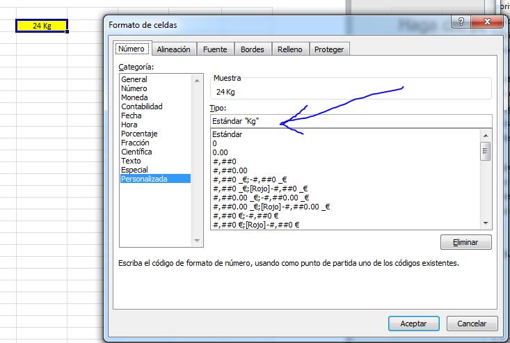 Unidades personalizadas Excel