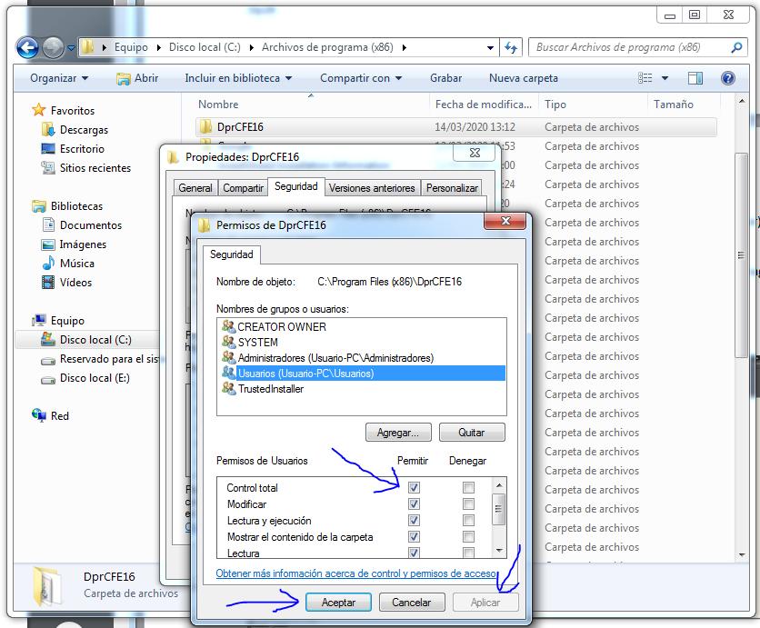 Autocad DEPRORED permisos windows 7