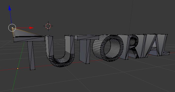 Texto 3D blender, edit mode