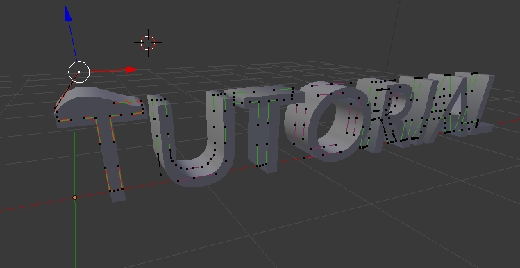 Texto 3d edit curva blender