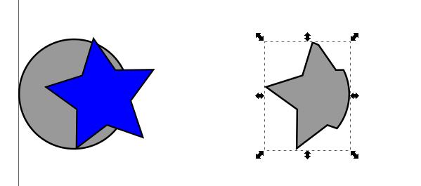 Inkscape intersección de objetos
