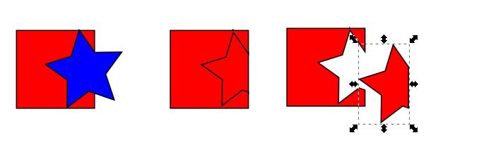 Inkscape división de objetos