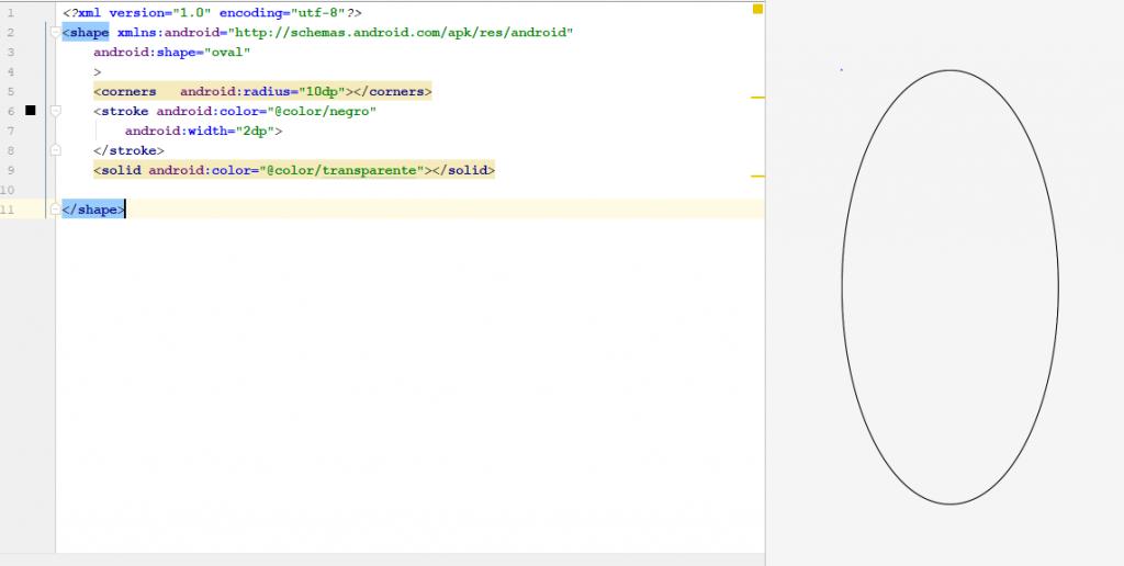 Texto en circulo Android Studio