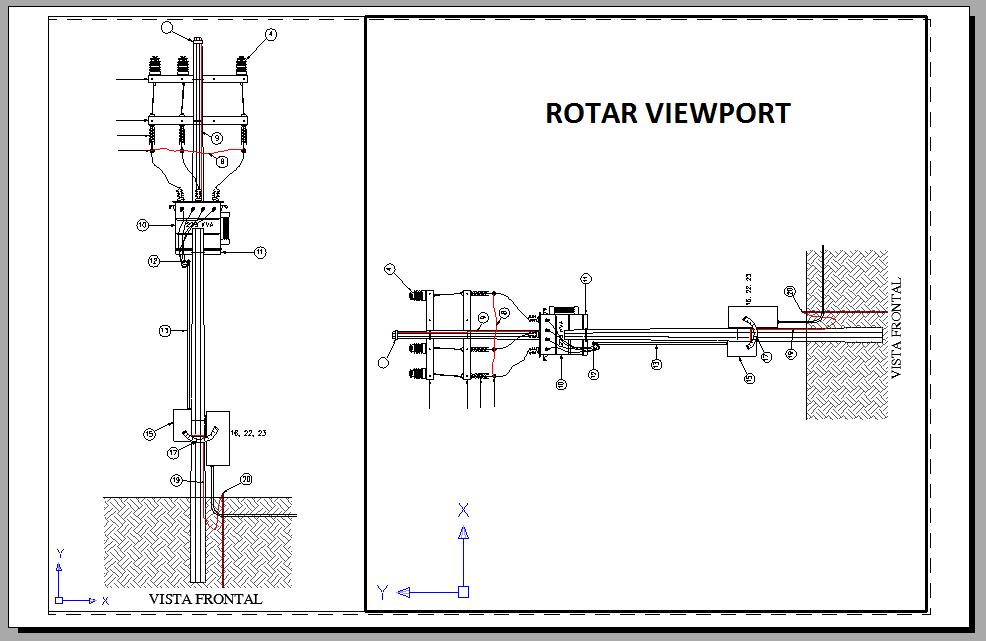 Rotar viewport en autocad