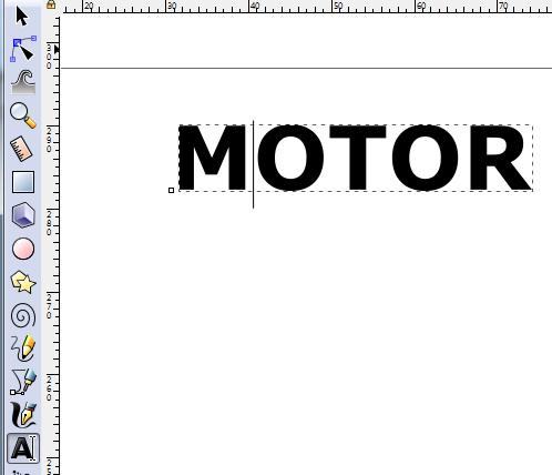 Modificar texto en Inkscape