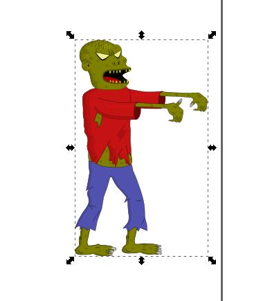 Exportar imagen PNG, Zombie