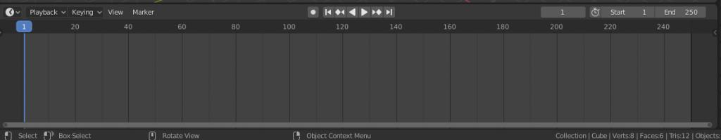Linea de tiempo Blender 2.8