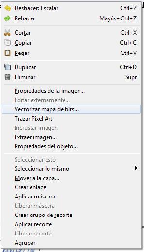 Vectorizar mapa de bits, Inkscape