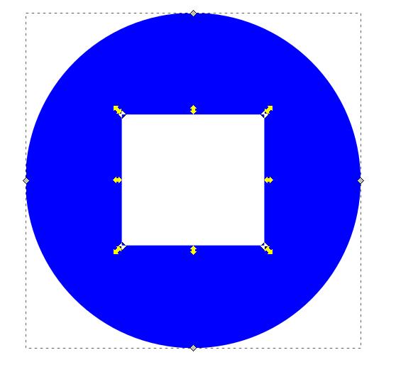Editando conjunto de nodos. Inkscape