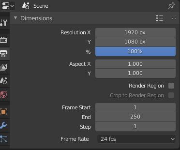 Resolución vídeo blender