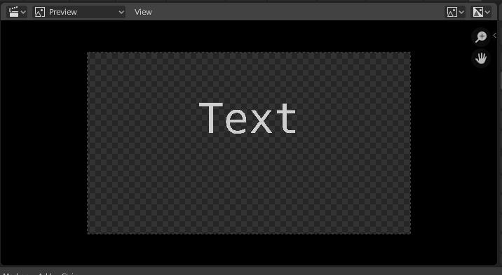 Texto en vídeo. Blender