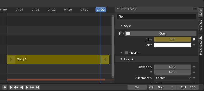 Animar Texto Blender