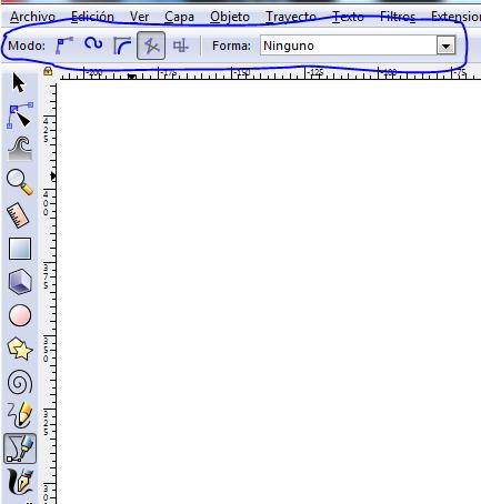 Herramientas para dibujar lineas y curvas inkscape