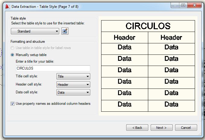 Crear tabla de coordenadas en Autocad