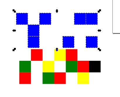 Inkscape seleccionar objetos