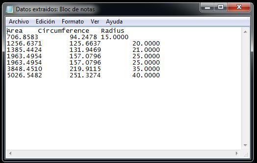 Exportar datos de Autocad a Excel