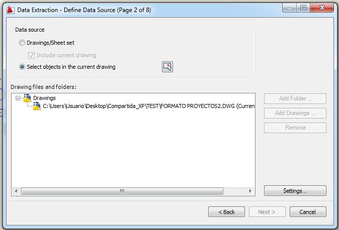 Extraer datos Autocad