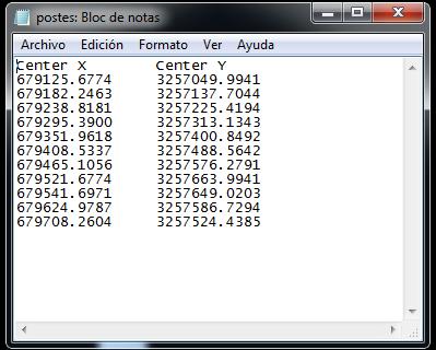 Extraer coordenadas de Autocad