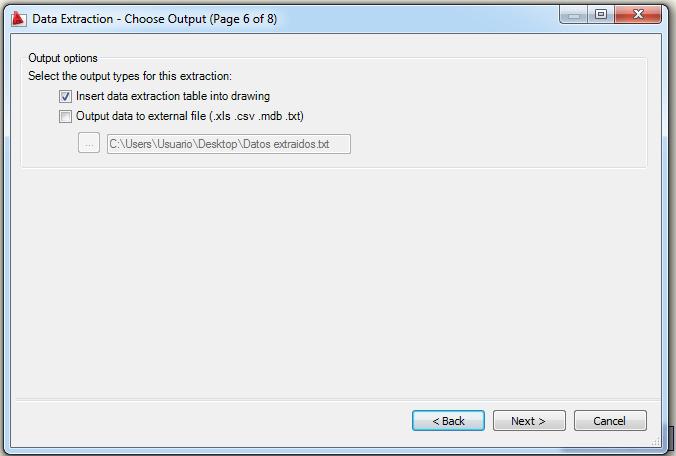 Generar tabla con coordenadas en Autocad