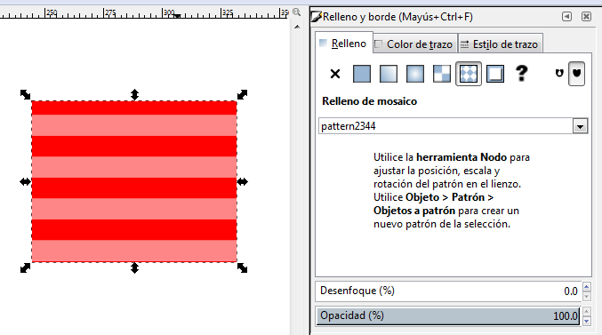 Agregar textura personalizada Inkscape