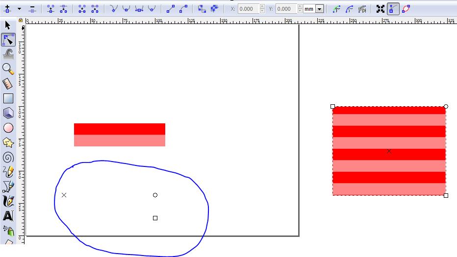 Modificar patrón Inkscape