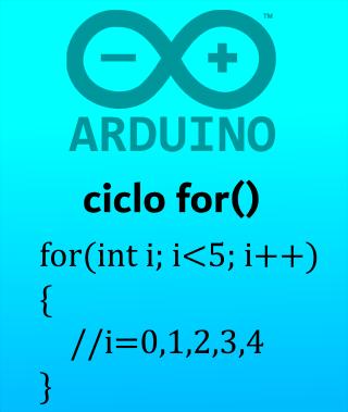 Ciclo for en Arduino