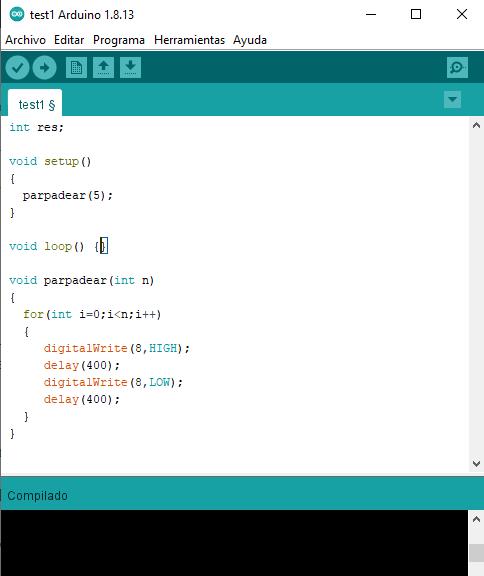 Funciones del usuario Arduino