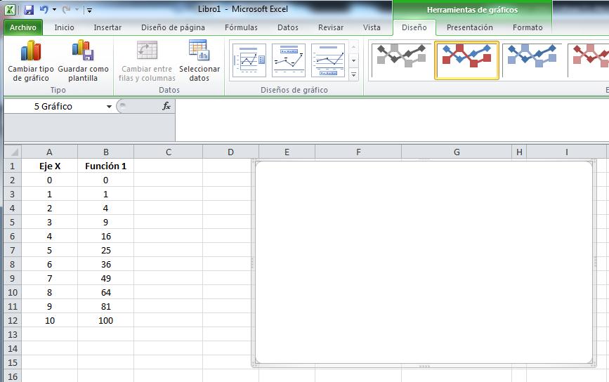 Crear Gráfica en Excel