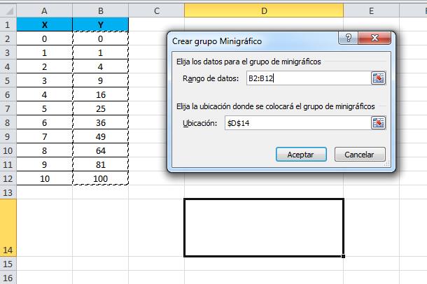 Tabla en una sola celda Excel