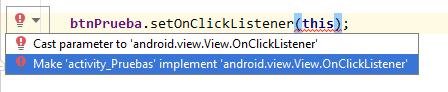 Evento onClick Java