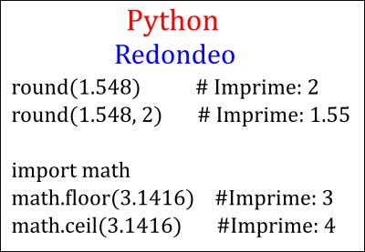 Redondear en Python