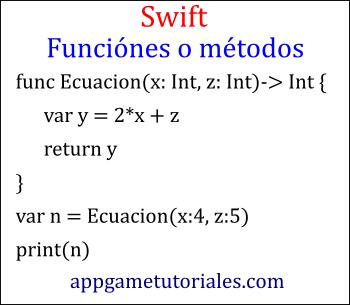 Funciones en swift